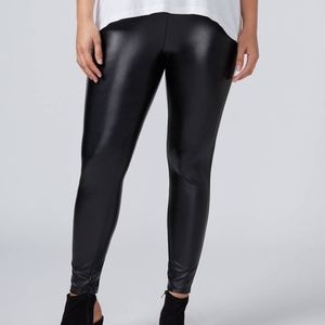 {Lane Bryant} Faux Leather Skinny Pants Sz 14/16